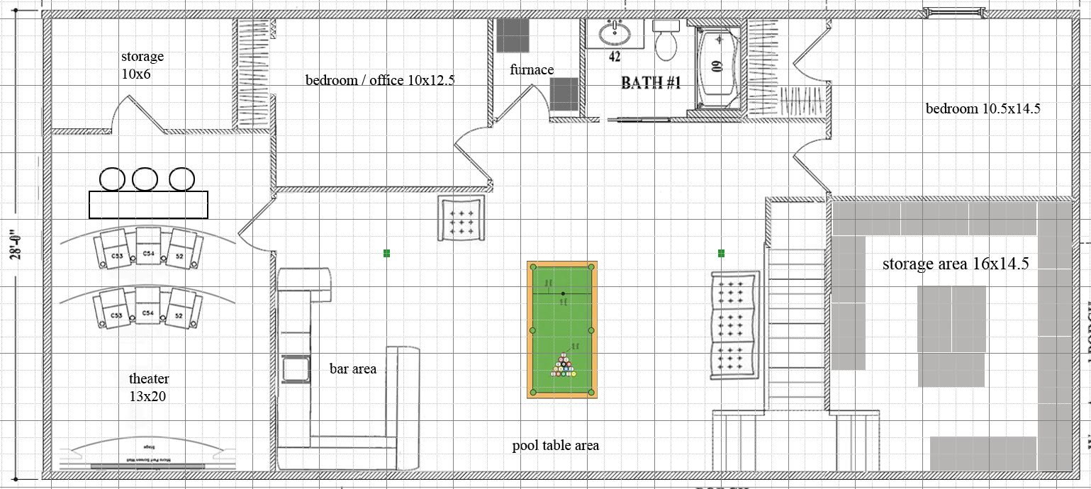 How about this layout instead  http akita net junk basementtest2 jpgBasement floorplan layout help please  Home Theater Info. Basement Floor Plan Layout. Home Design Ideas